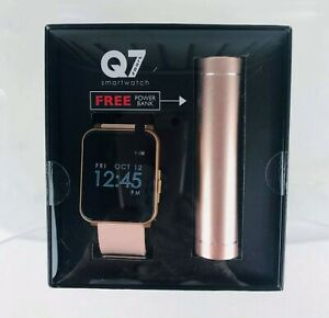 Q7 Sport Smartwatch w/ Free Powerbank Android & iOS Compatible Blush NIB