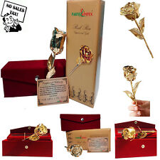 Parth Impex Premium 24K Gold Dipped Rose In Beautiful Velvet Gift Box Valentines