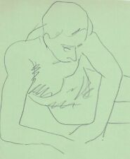 Studio drawing of a male nude by James Bone gay int
