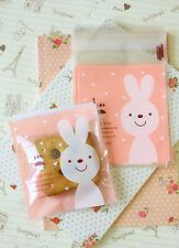 Happy Day Pink Bunny Cello Bags 20pc cookie candy packaging gift wrap favour bag