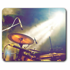 Computer Mouse Mat - Drum Kit Music Band Gig Office Gift #16491
