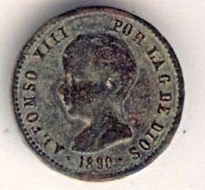 Cincin19, Bonita Ficha de ALFONSO XIII,1890,Busto ,detras estrella de 5 puntas