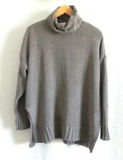 Aerie Tunic Sweater Turtle Neck Pullover Slit Sides Soft EXTRA OVERSIZED Size S