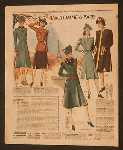 'ECHO DE LA MODE' FRENCH VINTAGE NEWSPAPER 19 OCTOBER 1941