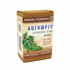 auromere soap  sandal - tumeric with neem 2.75 oz skin types oily - normal new