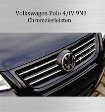 VW Polo 4 9N3 - 3M Chrom-Leisten Kühlergrill Zierleisten Kühlergrill Oben Neu
