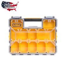 DEWALT Deep Compartment Small Parts Hardware Organizer Box Tool Transparent Lid