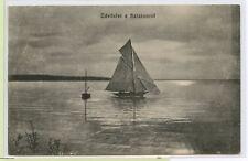 VINTAGE AUSTRIA HUNGARY 1915 Postcard~ Hungary Naval Cancel~ WELCOME TO BALATON