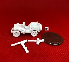 SAS JEEP ARMORED w/ SPARE FUEL CANS & 50 CAL MG~ 3D PRINTED 1/72 1/87 1:100 *109