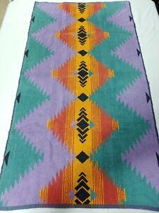 """Vintage Ralph Lauren Southwest Aztec Towel 100% Cotton 50"""" X 27"""""""