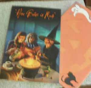 2 Halloween Cards by Leanin Tree-Top -  How Botox is Made Witch Cauldron