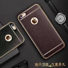Iphone 7 de 7 Plus de Samsung S8 S8+ Lujo delgada de cuero PU cubierta suave TPU BACK CASE