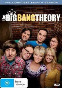 The Big Bang Theory Season 8 (DVD, 3-Disc Set) NEW