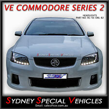 VE COMMODORE SERIES 2 DRL PROJECTOR  HEADLIGHTS - LED DAYTIME RUNNING LIGHTS SS