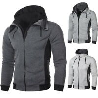 Men Pullover Sweatshirts Hoodie Slim Fit Zip Jacket Coat Loose Autumn Tops Newly