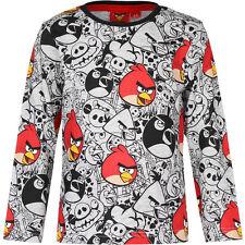 #43 Camisa Manga Larga Jersey Niños Angry Birds Gris Rojo Negro 104 116 128 140