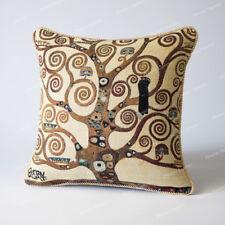 "Jacquard Weave Tapestry Pillow Cushion Cover Gustav Klimt Tree of Life 18x18"" UK"