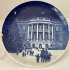 Copenhagen B & G 5 Inch Blue Plate 1987 Christmas in America White House Denmark