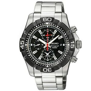 Seiko SNAE25 SNAE25P1 Mens Alarm Chronograph Watch WR100m RRP $650.00
