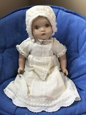 Antique Composition Baby Doll 18 Inch Crier Sleepy Eyes Very Sweet!