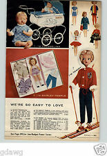1962 PAPER AD Doll Thumbelina Tammy Shirley Temple Carriage Buggy Jointed Vinyl