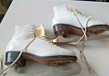 L👀K Hyde Crusader Ice Skates Sheffield Steel Blades Size 5 1/2 Blade Guards Bag