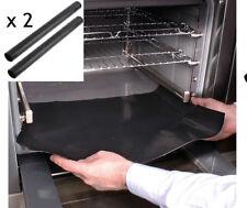 2 X Universal Teflon Forno Fornello Liner BBQ Grill Antiaderente Rivestimento Tappetino Riutilizzabile