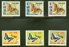 VIETNAM #J15-20 Complete Butterfly set, og, NH, VF, Scott $52.00