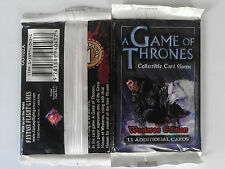 A game of thrones AGOT ccg Two Westeros edition sealed booster packs
