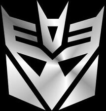 Transformers Decepticon Sticker #1 SILVER