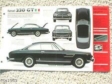 FERRARI 330 GT SPEC SHEET/Brochure/Flyer: 1963,1964,1965,  .........330GT