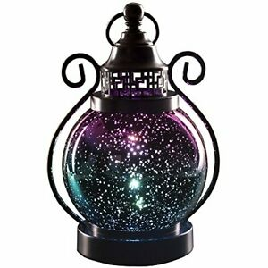 Color Changing Decorative Hanging Moroccan Lanterns with 2 Timer Modes,