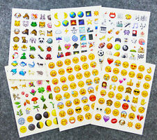 48 Die Cut Emoji Smile Expression Face Sticker Pack IPhone Decor Stickers