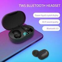 E6S TWS Wireless Bluetooth Headphones Earphones Mini Buds In-Ear O2S5