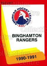 1990-91 ProCards AHL IHL #25 Binghamton Rangers, Checklist