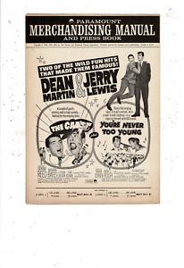 1963 PARAMOUNT MERCHANDISING MANUAL PRESS BOOK DEAN MARTIN JERRY LEWIS MS2109