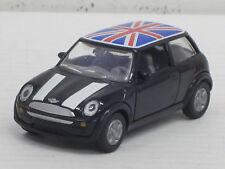Mini Cooper in schwarz mit Englandfahne, Siku, ohne OVP, ca. 1:55 ?