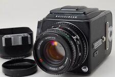 【Rare Near Mint】HASSELBLAD 500CM C/M Black w/ A12 & 80mm F/2.8 T* From JAPAN #95