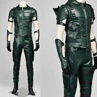 2017 Green Arrow Season 4 Oliver Queen Outfit Cosplay Costume Halloween Clothing