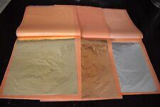 75 sheet Imitation Gold sheet  25 Imitation Silver+25 Copper leaf+25 gold leaf