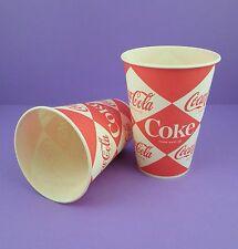COCA Cola-Coppia di non utilizzato Originale 1960 S 7 OZ (ca. 198.44 g) Waxed TAZZE-Progettazione di diamante
