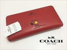 Snoop Peanuts Red Leather Women's Wallet F53773 with Gift Receipt!