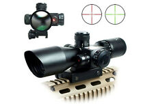 Stock Hot 2.5-10x40 Rifle Scope Red Laser Dual illuminated Mil-dot w/ Rail Mount