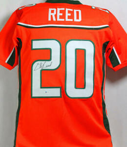 Ed Reed Autographed Orange College Style Jersey - Beckett W Auth *2