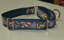 Adjustable Martingale Dog Collar - Superheroes
