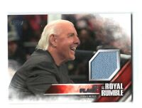 WWE Ric Flair 2016 Topps Then Now Forever Royal Rumble Mat Relic Card SN 312/399