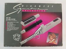 Hot Air Hair Styling System Windmere 3 Attachments Curling Brush Mint Condition