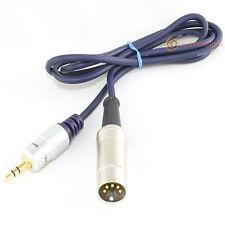 Naim / Quad 5 Pin Din Para Ipod/iphone/mp3 Oro Cable de interconexión 1m