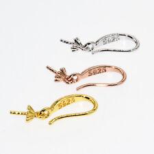 Jewelry Earring Findings S925 Silver 18K Gold Filled Pinch Bale Hook Earwires