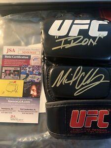 """Michael Chandler Autographed Signed UFC Glove """"Iron"""" Inscription JSA COA"""